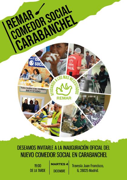 REMAR abre un comedor social en Carabanchel que ofrecerá 120 menús ...